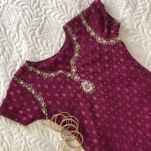 Purple Patiala Suit